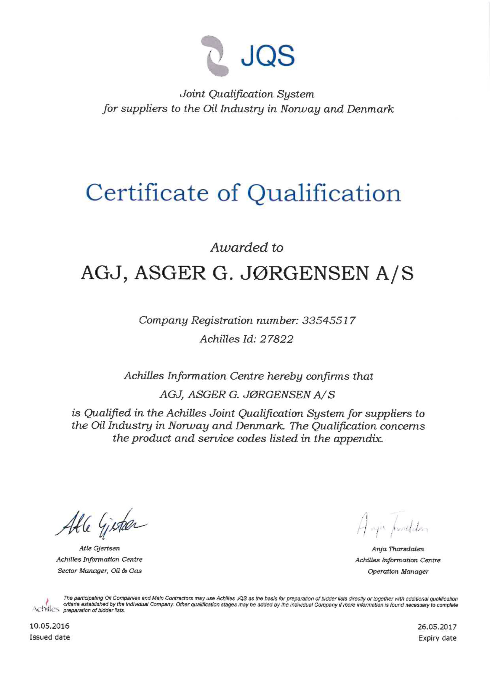 AGJ Achilles 2017